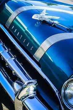 1955 Pontiac Star Chief Grille Emblem - Hood Ornament - Car photographs  by Jill Reger
