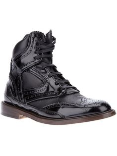 GIVENCHY Sneaker Style Brogue Boot Visit www.TheLaFashion.com for more Fashion insights and tips.