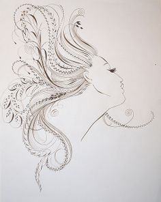 hair-flourishing by Barbara Calzolari, via Flickr  I've never seen these flourishes incorporated into a human form before. Reminds me of a wood nymph.