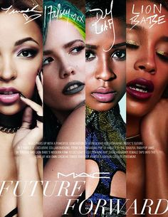 Roll on March! #FutureForward is the latest collaboration project from #MAC and it's available in March :The collaboration is with four up-and-coming music artists – Dej Loaf, Halsey, Lion Babe and Tinashe. The artists and their unique styles are captured through their respective products, including a #Lipstick, #Lipglass, #Eyeshadow Palette and#Liquidlast #Eyeliner. Excited much :P