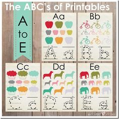 The ABC's of Printables: Letters A-Z {mama♥miss} ©2013