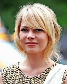 medium short hairstyles for round faces