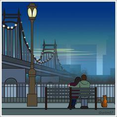 Manhattan inspired by Woody Allen. - - illustration.. | My work