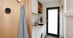 By giving your tired, old laundry a modern D. makeover you can make it a place you enjoy using. Visit Bunnings to see how you can renovate your laundry today. Plan Design, Layout Design, Home Bedroom, Home Living Room, Master Suite Bathroom, Overhead Storage, Rustic Bedding, Mediterranean Decor