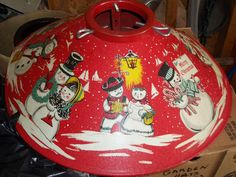 Vintage 40's and 50's Red Metal Christmas Tree Stand