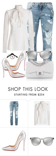 """Whitening"" by spivey-adrian ❤ liked on Polyvore featuring Dolce&Gabbana, Christian Louboutin and Chanel"