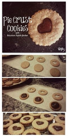 Pie Crust Cookies with Bourbon Apple Butter - a twist on holiday cookies for your cookie swap!