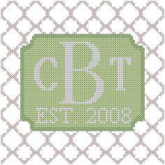 Cross Stitch Pattern Modern Style Simple by oneofakindbabydesign, $6.95