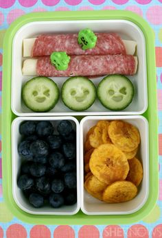 Salami Bento box. so cute! and so easy!