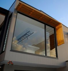 windows and timber awning-North Curl Curl - web Timber Windows, Modern Windows, House Windows, Windows And Doors, Front Doors, Diy Awning, Shade House, Window Awnings, Timber Cladding