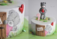 Birthday bear by CakesVIZ …See the cake: http://cakesdecor.com/cakes/220963-birthday-bear