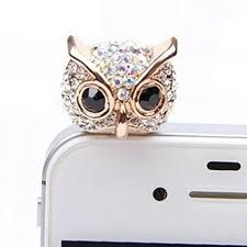 Cellphones & Telecommunications Confident Owl Design Studded With Pearls Mobile Phone Ear Cap Dust Plug For Iphone For Samsung 3.5mm Earphone Dust Plug Dust Plug