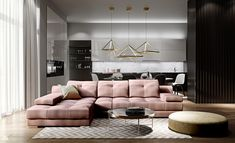 Open Plan, Loft, Couch, Living Room, Interior Design, Furniture, Interiors, Home Decor, Drawing Rooms