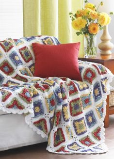 Free Crochet Country Granny Blanket Pattern