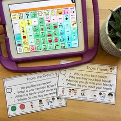 My Experience Using My Favorite AAC Apps: I compared my time to create simple se. Preschool Speech Therapy, Articulation Therapy, Articulation Activities, Preschool Songs, Speech Activities, Speech Language Pathology, Speech Therapy Activities, Speech And Language, Speech Therapy Autism