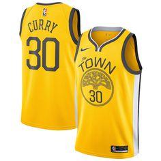 3ddcf4970 Men s Golden State Warriors Stephen Curry Nike Gold 2018 19 Swingman Jersey  – Earned Edition