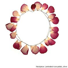 Esther Knobel  Neckpiece. Laminated rose petals, silver.