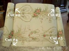 4 the love of wood: HOW TO LINE A DRAWER WITH WALLPAPER - part 1