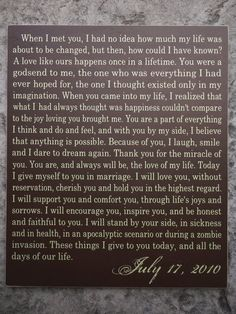 31 ideas wedding vows that make you cry ideas beautiful – Best Wedding Ceremony Ideas Wedding Ceremony Ideas, Romantic Wedding Vows, Best Wedding Vows, Wedding Vows To Husband, Wedding Signs, Wedding Readings, Funny Wedding Vows, Wedding Wall, Dream Wedding