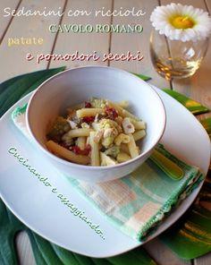 Cucinando e assaggiando...: Sedanini del riciclo