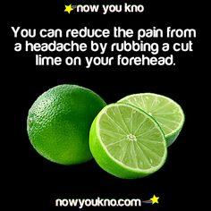 lime rub for headaches