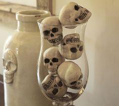 Mini Skull Vase Filler #potterybarn