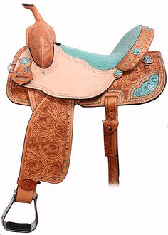 Horse barrel saddle