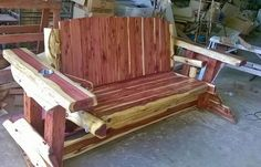 Cedar Log Glider From Wild West Creations