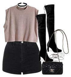 """""""Style #11249"""" by vany-alvarado ❤ liked on Polyvore featuring Topshop, H&M, Kendra Scott, Stuart Weitzman, Chanel and Miss Selfridge Teenage Outfits, Retro Outfits, Girly Outfits, Cute Casual Outfits, Short Outfits, Stylish Outfits, Outfits For Teens, Fall Outfits, Summer Outfits"""