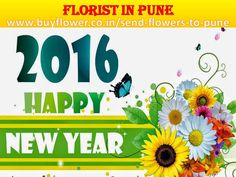 Happy New Year 2016 Send #Flowers, #Sweets, #DryFruits, #Toys to Your #Lovers By http://www.buyflower.co.in/send-flowers-to-pune