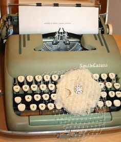 Would love to have guests type out their well wishes on a typewriter then bind all the pages in an album later.