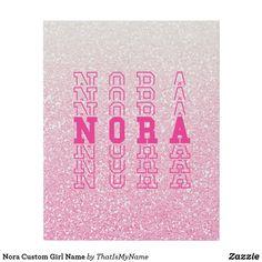 Nora Custom Girl Name Faux Canvas Print