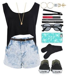 """""""Untitled #372"""" by eduardafrancisca69 ❤ liked on Polyvore featuring Converse, Forever 21, Kate Spade, UGG, Casetify, Trish McEvoy, NARS Cosmetics, T3 and Lucky Star Jewels"""