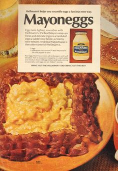 Mayoneggs - Hellmann's mayonnaise ad from 1972