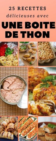 Recettes : que faire avec du thon en boite ? We all have a box of tuna lying around the bottom of the cupboard … we offer you some easy and quick recipes to use it! Canned Tuna Recipes, Crock Pot Recipes, Snack Recipes, Dinner Recipes, Cooking Recipes, Healthy Meal Prep, Healthy Snacks, Healthy Recipes, Easy Recipes