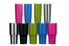 20 oz Hot Pink Stainless Steel Tumbler - Insulated and Seamless with a Twist to Close Lid and Straw Guaranteed to Keep Cold or Hot Drinks at the Perfect Temperature for Your One Busy Life