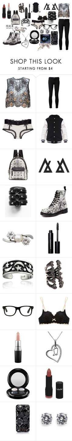"""""""black beauty"""" by princess-imani-tyler ❤ liked on Polyvore featuring Alessandra Rich, Frame Denim, Wet Seal, MCM, Dr. Martens, Bobbi Brown Cosmetics, Mondevio, Elle Macpherson Intimates, MAC Cosmetics and Jewel Exclusive"""
