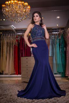 Vestido de festa azul royal, vestido de festa azul marinho, vestido de madrinha, vestido formatura.