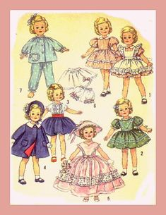 Shirley Temple doll clothes pattern