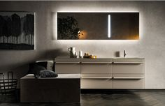 ROCCIA supply this product www.roccia.com RIGA - Info - Bathroom, Design, Bathroom's furnishings, LED lighting mirrors, Mirrors, Bathroom accessories, Made in italy, Florence, Hotel's project