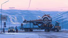 """Ship 14"" By Simon Stålenhag"