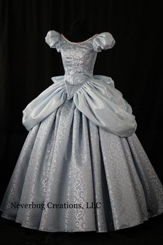 Cinderella Blue/Silver Swirl Custom Costume by NeverbugCreations look how pretty it is! Cinderella Cosplay, Cinderella Gowns, Disney Princess Dresses, Princess Costumes, Disney Dresses, Disney Outfits, Aladdin Princess, Cinderella Disney, Cinderella Wedding