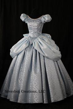 Cinderella Blue/Silver Swirl Custom Costume by NeverbugCreations