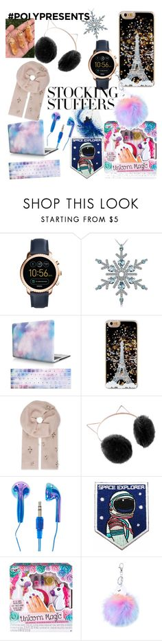 """""""#PolyPresents: Stocking Stuffers"""" by flora-oktania ❤ liked on Polyvore featuring FOSSIL, Janavi, LC Lauren Conrad, Fashion Angels, contestentry and polyPresents"""