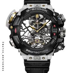 G-shock X Hublot Tourbillon #gshock #hublot #tourbillon #photoshop #watchporn #black #gold #awesome #luxurywatch #mechanical #mens