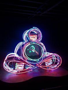 Neon Buddha by artist Nam June Paik