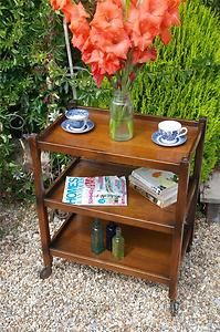 Vintage Solid Oak Tea Trolley By Herbert Gibbs 1930's Quirky Bookcase Deco Chic | eBay