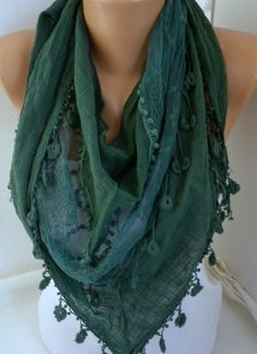Green and blue tones- add to blue or black blazer or dress to add pop of color.