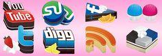 social media icons sets 1