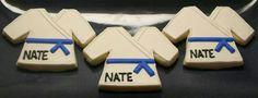 Karate Gi cookies - sugar cookies Royal icing